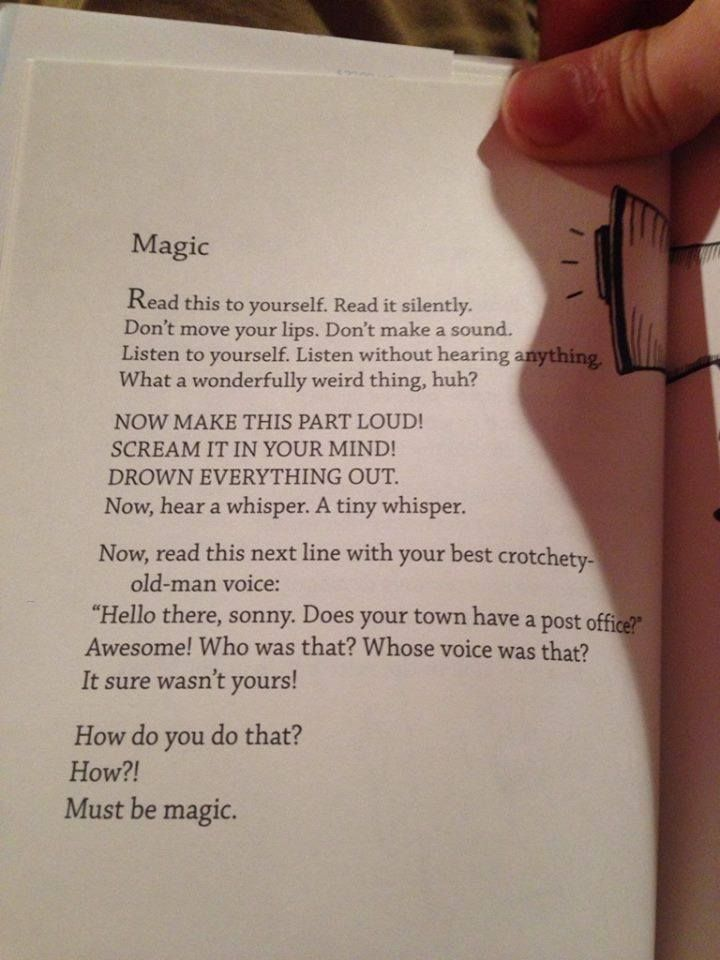 From Bo Burnham's Egghead, This Is Magic