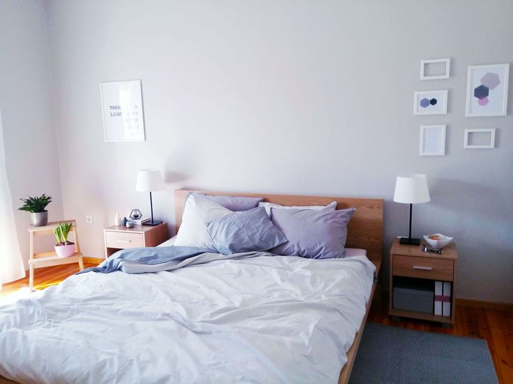 Chrysa's bedroom before and after - VioletMimosa.com