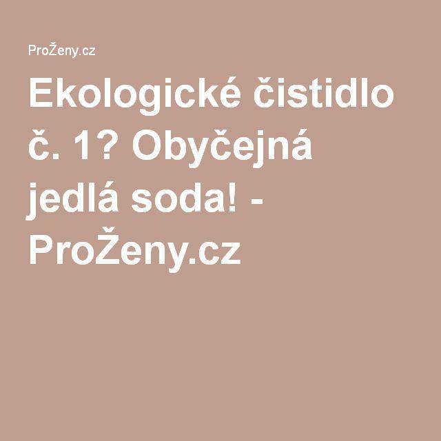 Ekologické čistidlo č. 1? Obyčejná jedlá soda! - ProŽeny.cz