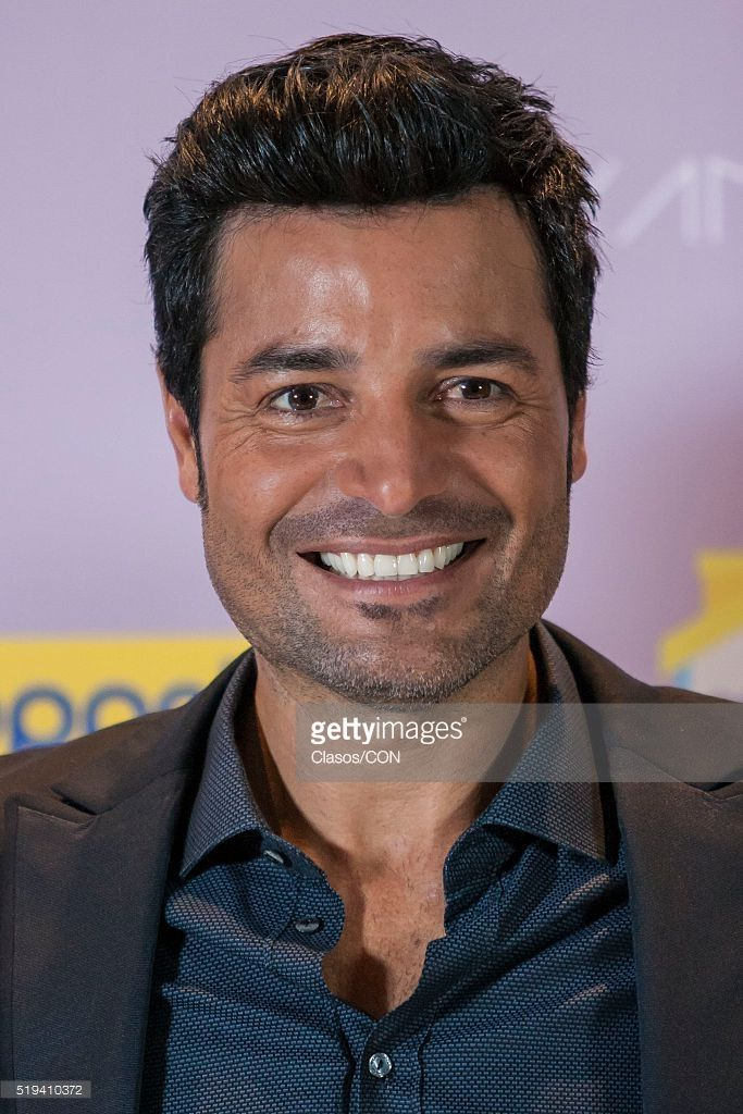 Puerto-Rican singer Chayanne poses for pictures during a photocall at Presidente Intercontinental Hotel on April 05, 2016 in Mexico City, Mexico.