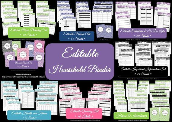 Household Binder Printables Home Binder Cover Organisation Family Planner Mega Day Planner Pdf Printable Chevron Printable Perpetual Planner... https://www.etsy.com/au/listing/179389931/household-binder-printables-home-binder?ref=shop_home_active_1