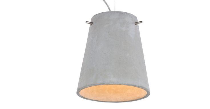 Concrete lamp, £58, www.made.com