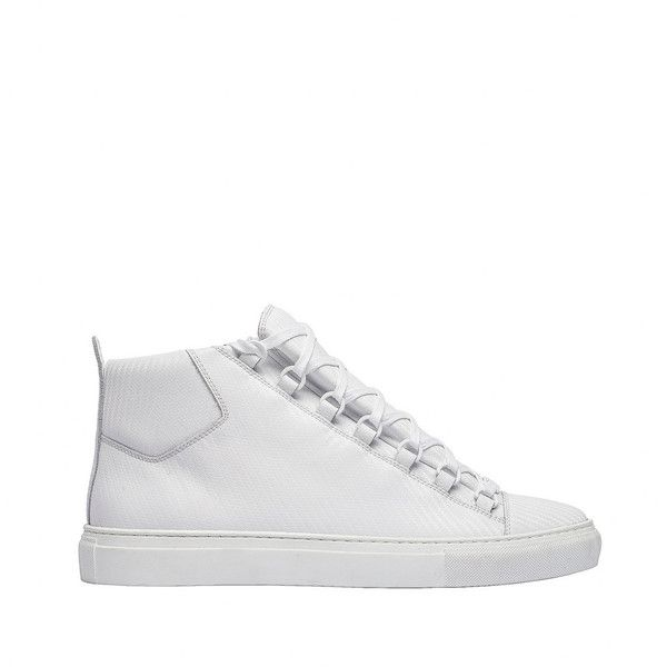 Balenciaga Carbon Effect High Sneakers ($635) ❤ liked on Polyvore featuring men's fashion, men's shoes, men's sneakers, balenciaga mens sneakers and balenciaga mens shoes