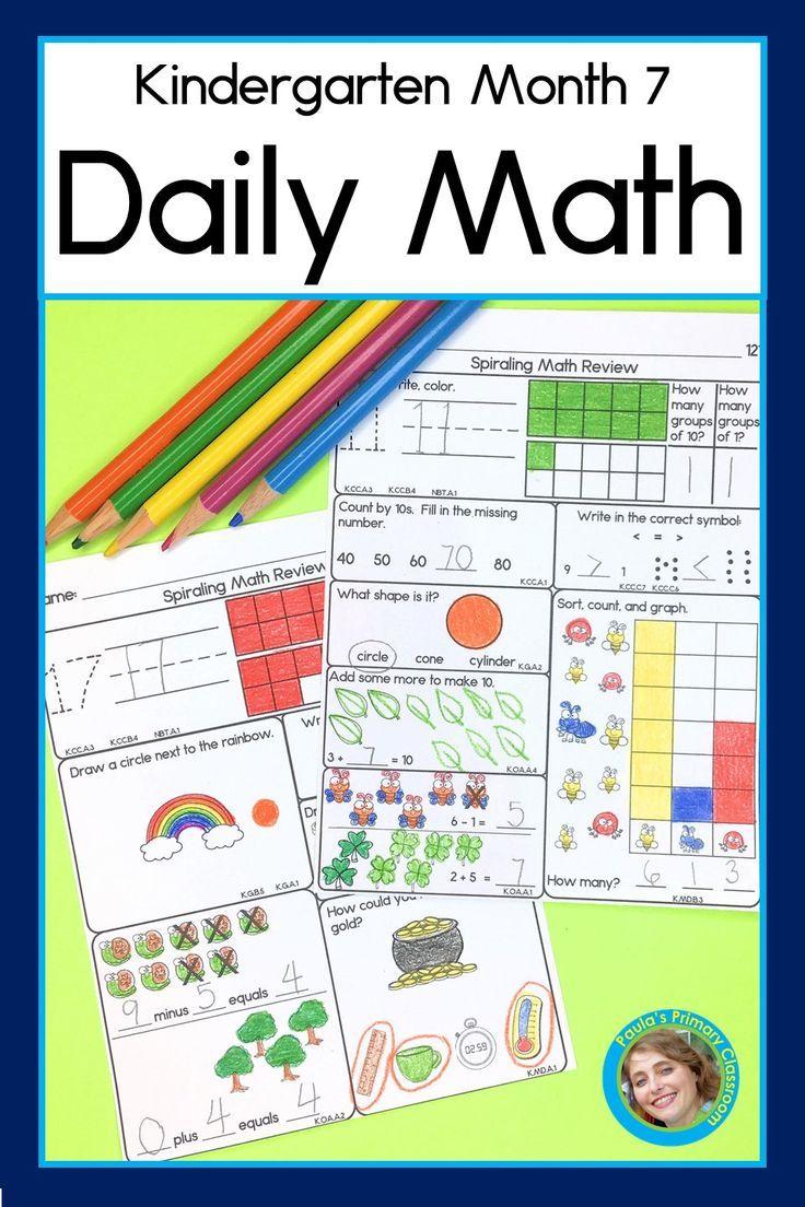 Daily Math For Kindergarten Month 7 Daily Math Kindergarten Math Math [ 1104 x 736 Pixel ]