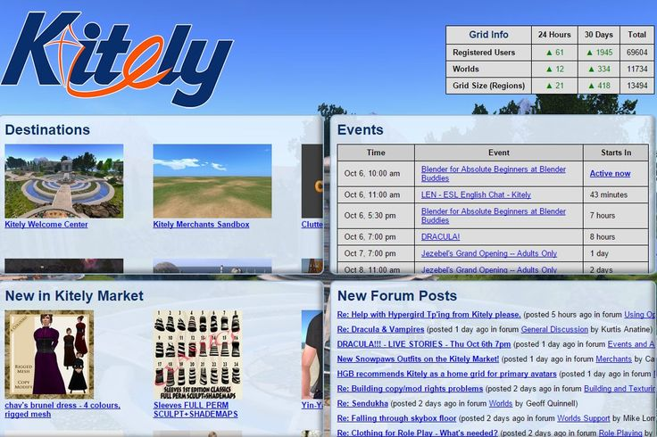 Nubie friendly: People come into a virtual world, see no people, and don't have any friends. If they use a feature on the Kitely login page, they can probably find friends fast if they know the secret of the login page. The key to the secret lies in the destination panel, upper left side.
