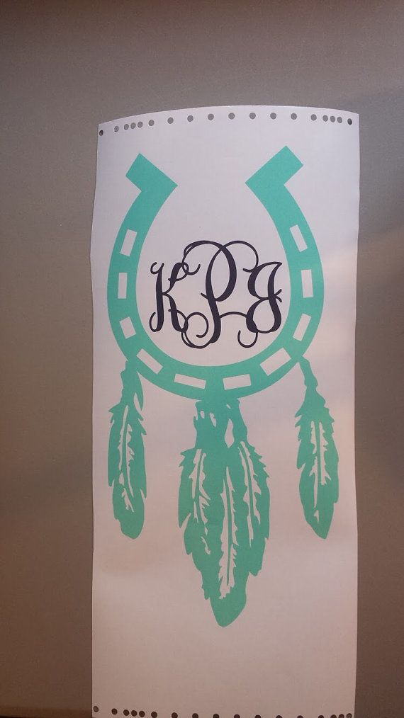 Horseshoe dreamcatcher decal by DecalsByCourtney on Etsy