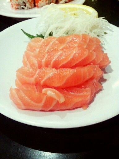 Sashimi salmon sushi kiosk