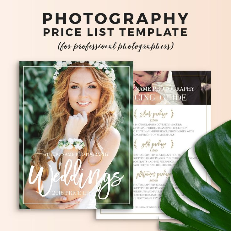 Wedding photography pricing guide template olivia