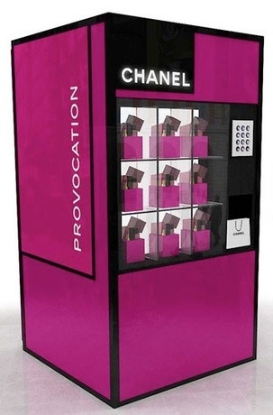 ANOTHER Chanel vending machine - great idea and so useful - if you have a leisure idea you want to market to the industry visit www.leisurelists.co.uk.... our leisure marketing data lists quality is guaranteed!!