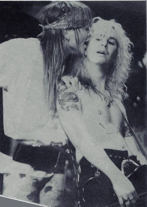 .Duff Mckagan and Axl Rose