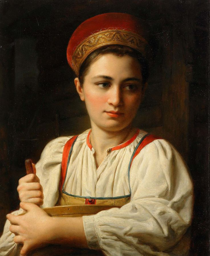 Anonymous Painter (Mid 19th century), Portrait of a Russian Beauty
