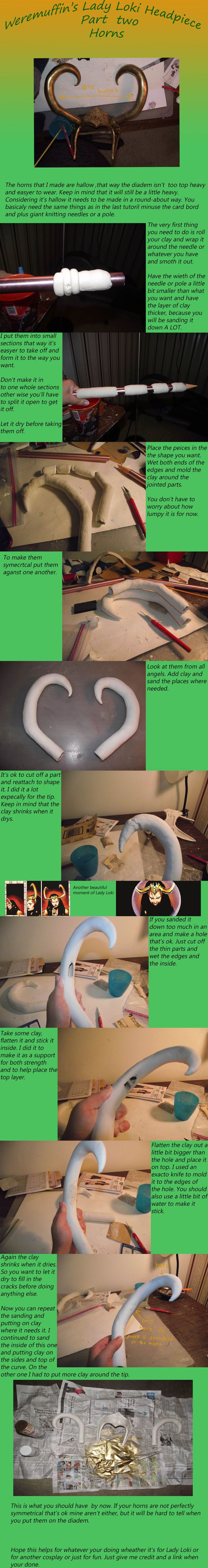 Lady Loki tutorial headpiece part two: The Horns by ~wearmuffin on deviantART