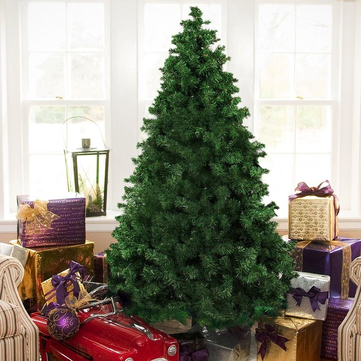 Best Choice Products 6' Premium Hinged Artificial Christmas Pine Tree With Solid Metal Legs 1000 Tips Full Tree.