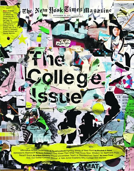 cover design | New York Times Magazine — The College Issue   #magazine