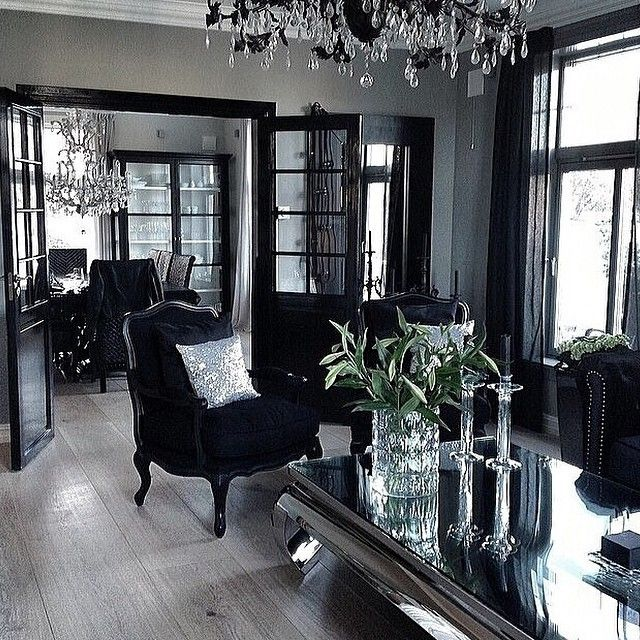 25 best ideas about fancy living rooms on pinterest - Grey and black living room pictures ...