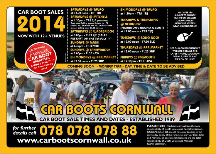 Car Boots Cornwall - at the heart of the community since 1989