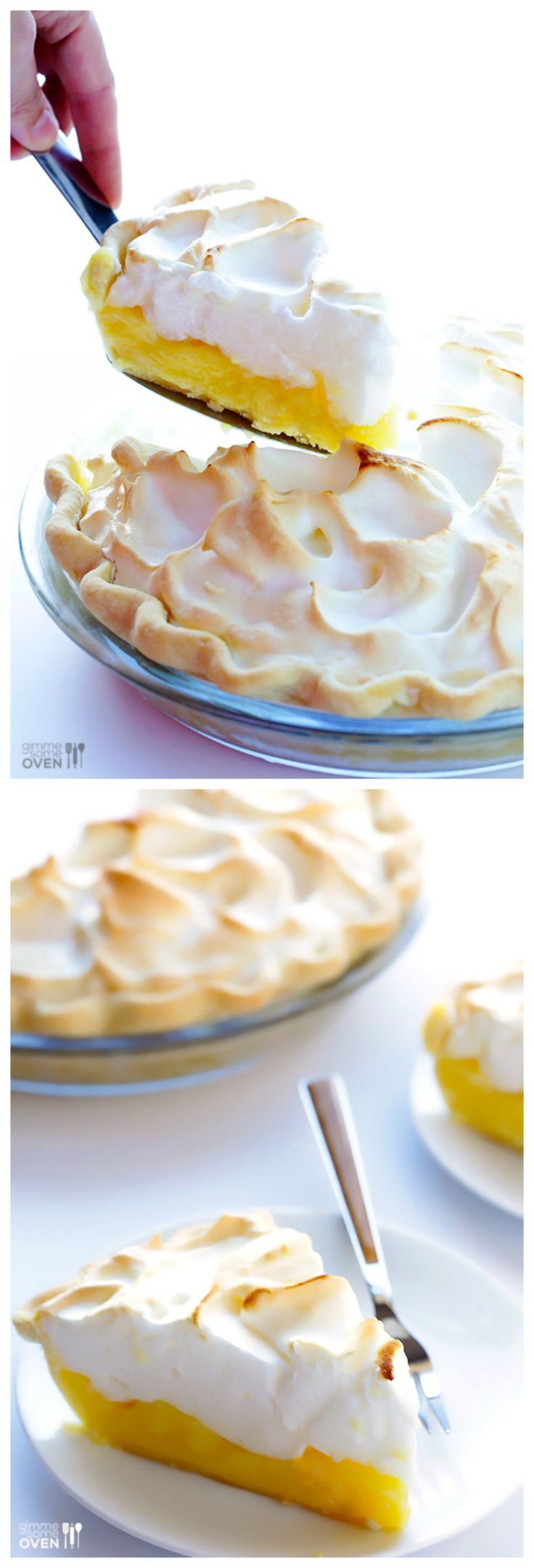 Lemon Meringue Pie -- learn how to make a fresh pie with this classic recipe!   gimmesomeoven.com #dessert #pie