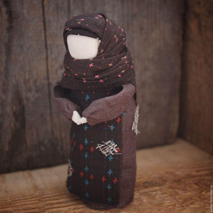 """Купить Куколка-образ """"Нищенка"""" - комбинированный, народная кукла, убоженька, жалейка, милосердие, состадание, лён"""