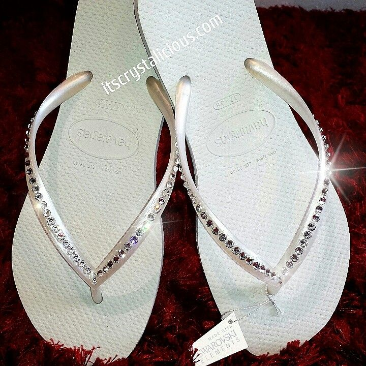 NEW   SWAROVSKI® embellished Havaianas $95.00 AUD!!! All colour combinations available   www.itscrystalicious.com  www.ItsCrystalicious.etsy.com   #new #swarovski #swarovskielements #havaianas #bride #christmas #gift #bling #flipflops #thongs #crystalicious #crystals #beach #beachwedding #summer #style #wedding #bridetobe #bridesmaids #blingshoes #customisation #designer #diamonds #letsseewhocopies #worldwide #sparkly #onlyamatteroftime #onlineshopping