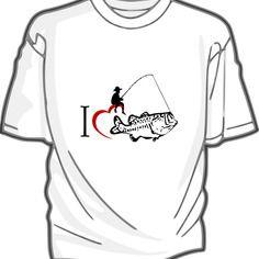 J'aime la pêche - tee-shirt coton blanc homme