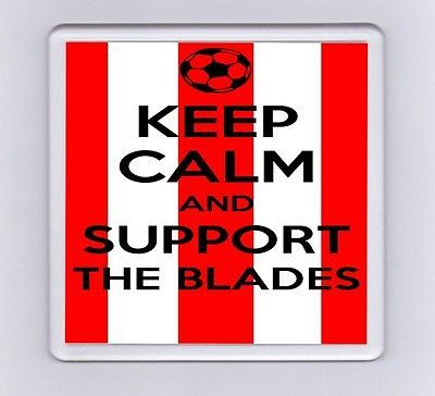 Keep calm and support football #drink #coaster - #sheffield united,  View more on the LINK: http://www.zeppy.io/product/gb/2/152044192254/