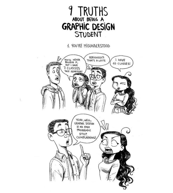 C. Cassandra comics :: 9 Truths: Being a Graphic Design Student   Tapastic Comics - image 1