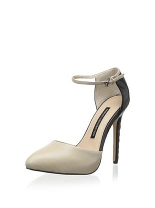 46% OFF French Connection Women's Catia Dress Pump (Tan & Black)