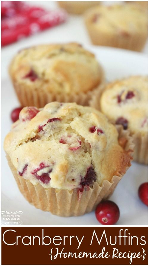 Easy Homemade Cranberry Muffins Recipe!