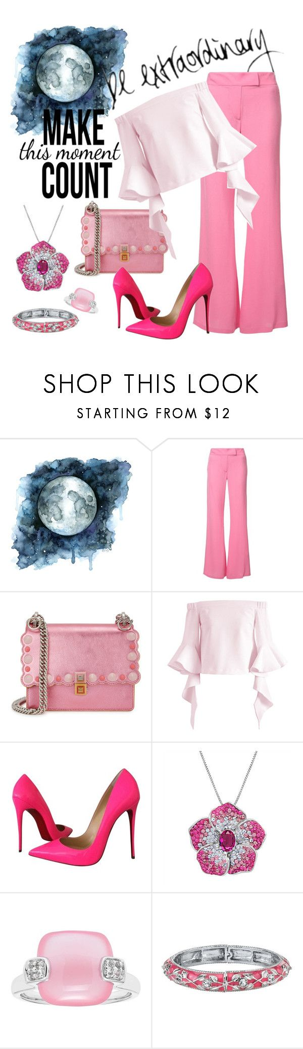"""Pink Extraordinaire"" by april-wilson-nolen ❤ liked on Polyvore featuring Rachel Zoe, Fendi, Chicwish, Christian Louboutin, Amanda Rose Collection and 1928"