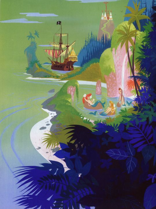 Neverland from the Peter Pan Big Golden Book by Al Dempster and John Hench