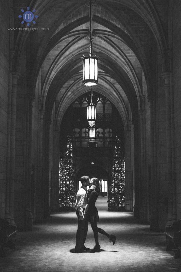 Engagement session at the Cathedral of Learning in Oakland/Pittsburgh www.mannguyen.com - Man Nguyen Photography - Pittsburgh, Pennsylvania wedding photographer.