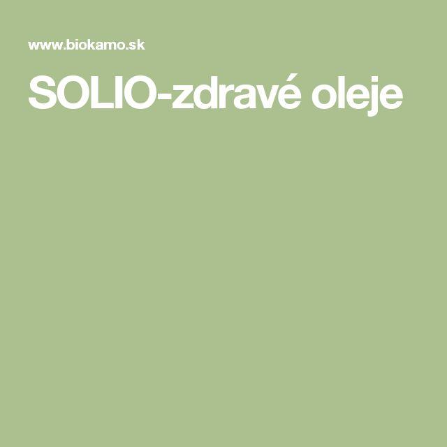 SOLIO-zdravé oleje