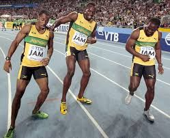 Jamaican 4X100 Relay Team - The team consisted of Usain Bolt, Nesta Carter, and Michael Frater.and Yohan Blake– it was the same winning team that ran in the world championships in Daegu last year with the time of 37.04 seconds.