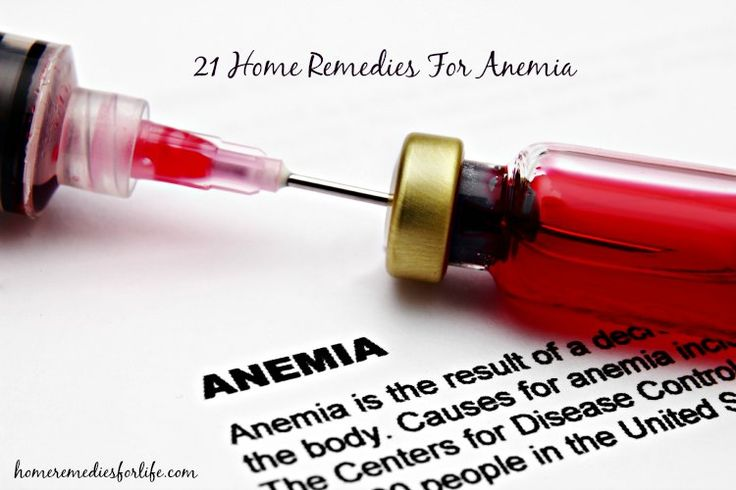21 DIY Home Remedies for Anemia - http://www.myeffecto.com/r/1yid_pn