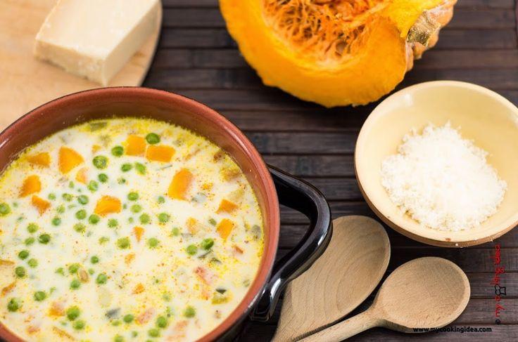 Zuppa delicata con latte e verdure - My cooking idea http://www.mycookingidea.com/2014/01/zuppa-delicata/