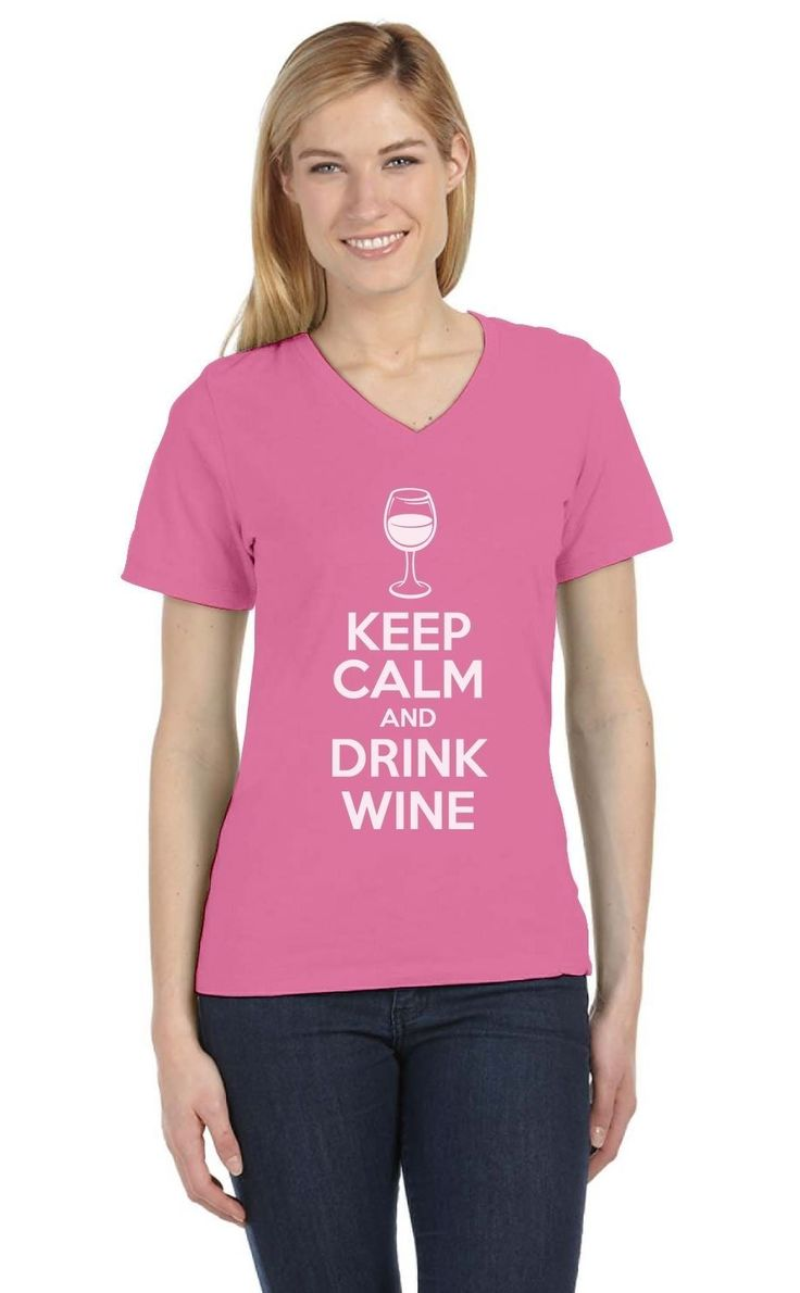 Keep Calm And Drink Wine Funny Jewish Passover Holiday V-Neck Women T-Shirt Gift