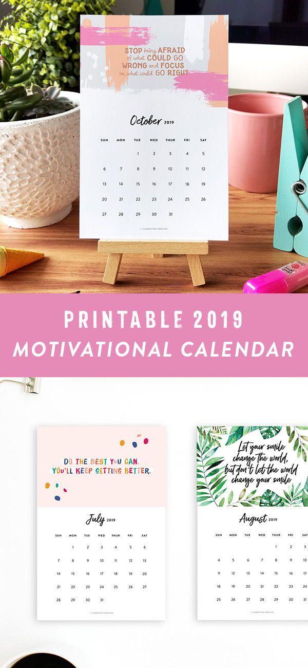 Printable 2021 Inspirational Calendar Desk Calendar