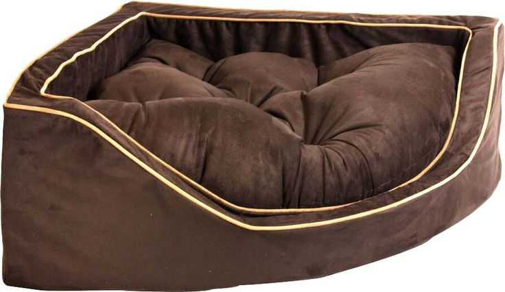 Features:  -High density foam form.  -Separate tufted poly filled cushion.  -Comfortable, firm foam sides.  -Machine wash on cold and dry on cool.  Bed Material: -Suede.  Country of Manufacture: -Unit