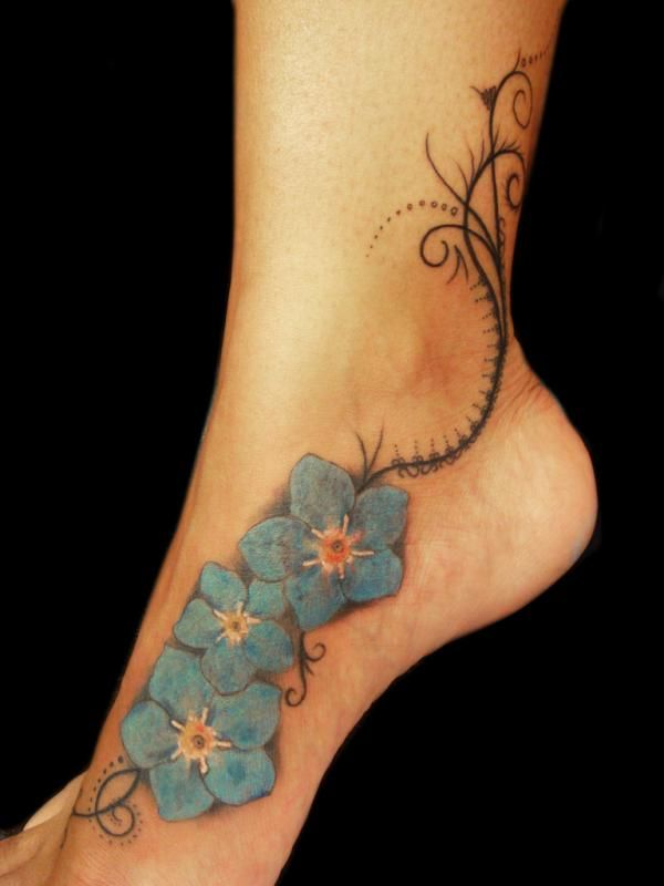 Forget me not flower tattoo would get a single flower for Single flower tattoo