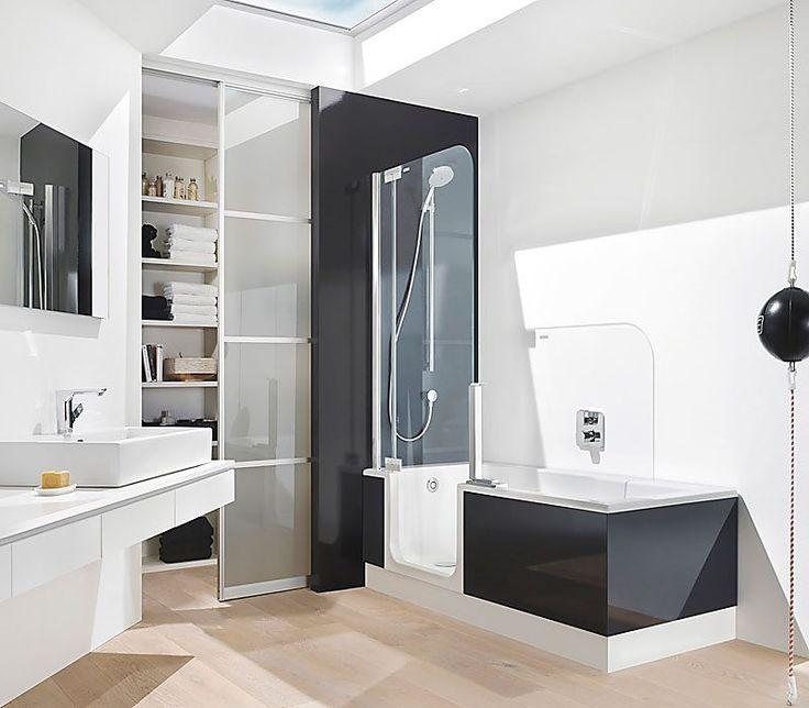 Ba os modernos peque os con ducha y tina buscar con - Banos modernos pequenos ...