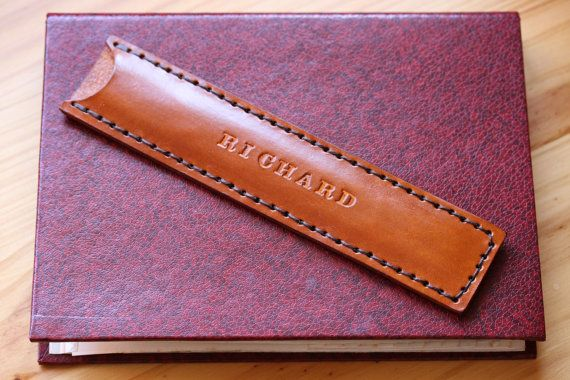 Name Leather Nail File Case Personalized by TinasLeatherCrafts. Repin To Remember.