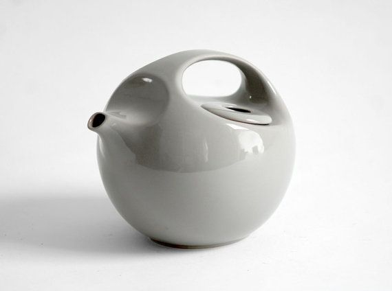 Coolest Teapot - Russel Wright-ish  but I think it might be a Japanese ceramic