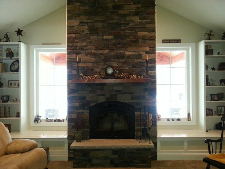 Tennessee Fieldstone Fireplace : Love our tennessee ledgestone fireplace