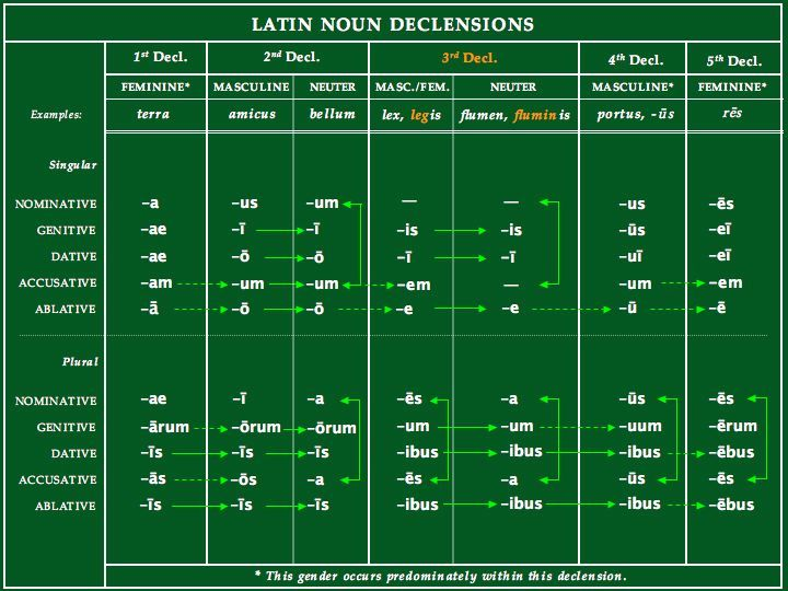 latin declension table | Latin IS English! | Latin May Be Dead, But It Fell Down Into English!