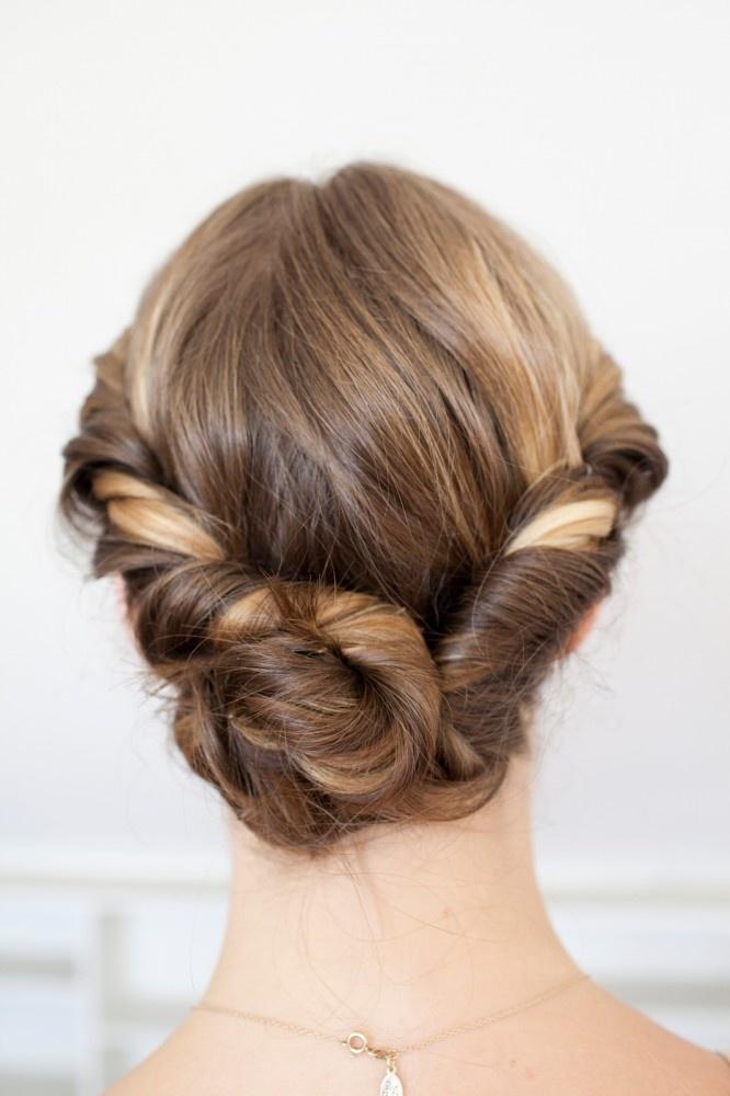 simple twist + bun