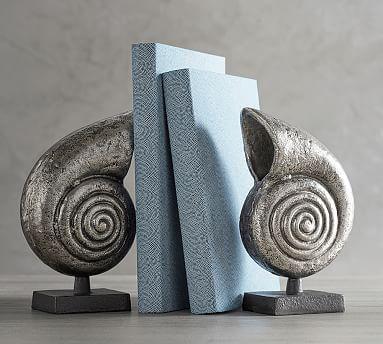 Silver Nautilus Bookends #potterybarn