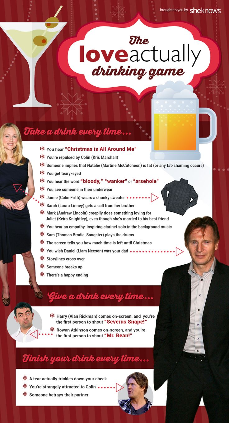 Love (Actually) is the most dangerous game — especially when you're drinking through it (The ultimate Love Actually drinking game)