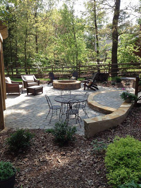 Outdoor living patio by Fine Edge Landscape Design, via Flickr