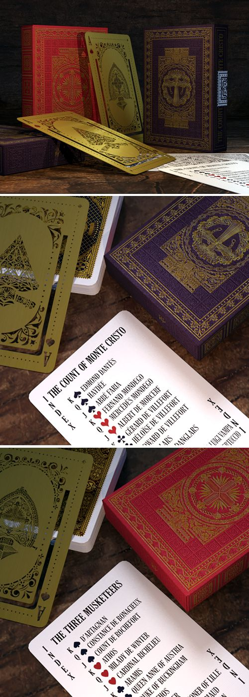 Alexandre Dumas Classics' Playing Cards ROYAL Editions - playing cards art, game, playing cards collection, playing cards project, cards collectors, design, illustration, card game, game, cards, cardist, cardistry, card back
