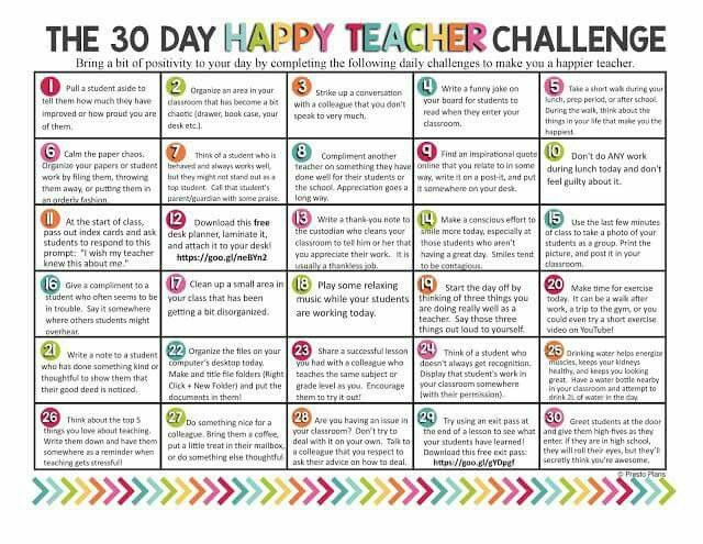 30 things teaching adults